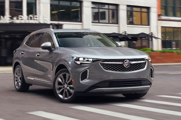 2021 Buick Envision driving on a city street
