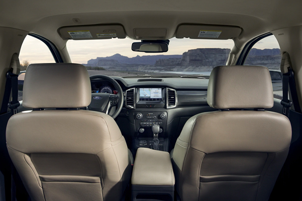2021 Ford Ranger Interior facing the windshield