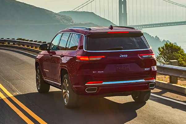 2021 Jeep Grand Cherokee L driving on road