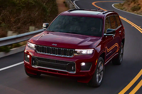 2021 Jeep Grand Cherokee L driving on highway