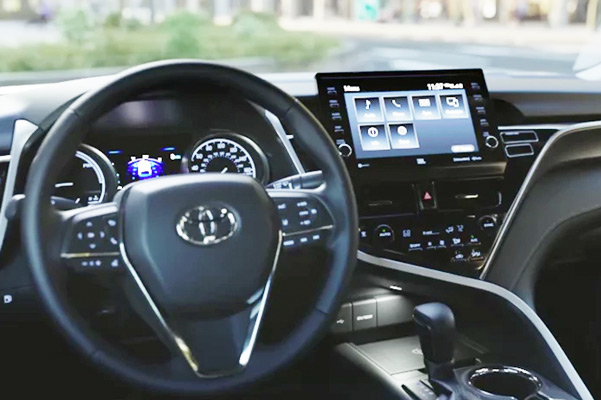 Hybrid XSE interior shown in Black leather trim with available Driver Assist Package. Prototype vehicle shown with options using visual effects.