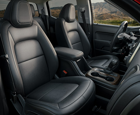 2022 GMC Canyon Elevation Crew Cab with High Elevation Crew Cab with Jet Black/Jet Black Leather-Appointed Seating; Passengers side view; Cayenne Red Tintcoat Exterior