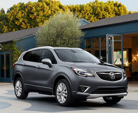 2020 Buick Envision outside a home