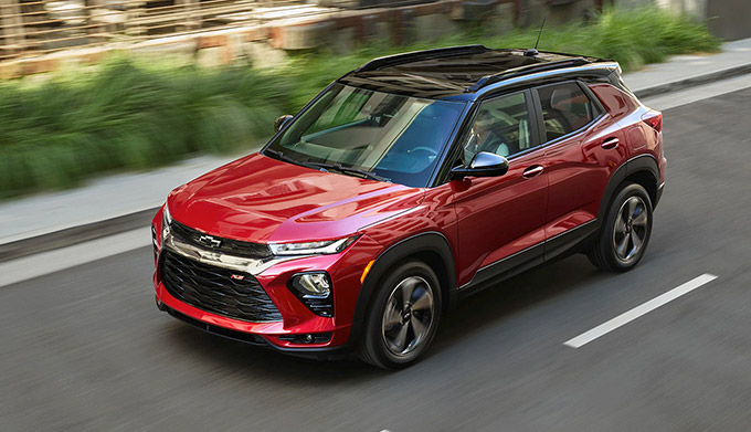 2021 Chevrolet Trailblazer Driving Down Street