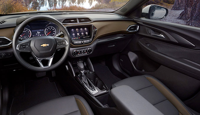 2021 Chevy Trailblazer Interior Front Seating Arrangement