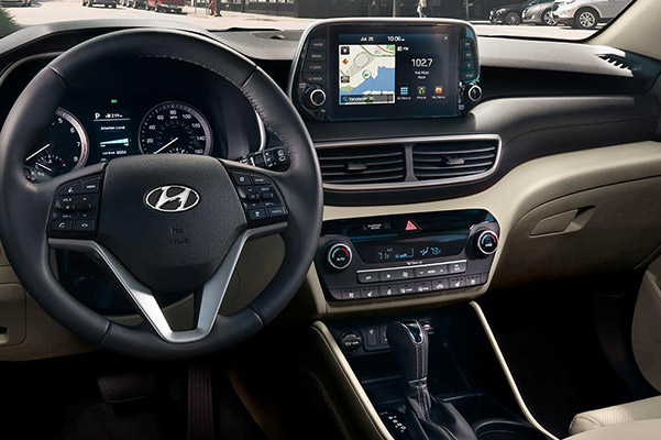 2019 Hyundai Tucson Interior & Technology Features