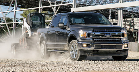 2020 Ford F-150 on worksite
