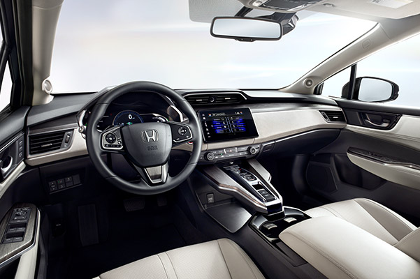 Front cabin in a 2020 Honda Clarity