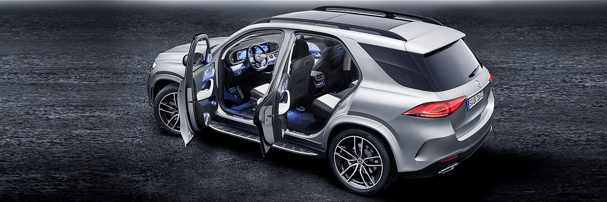 The 2020 GLE SUV footer