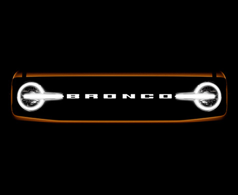 Front view of the Ford Bronco