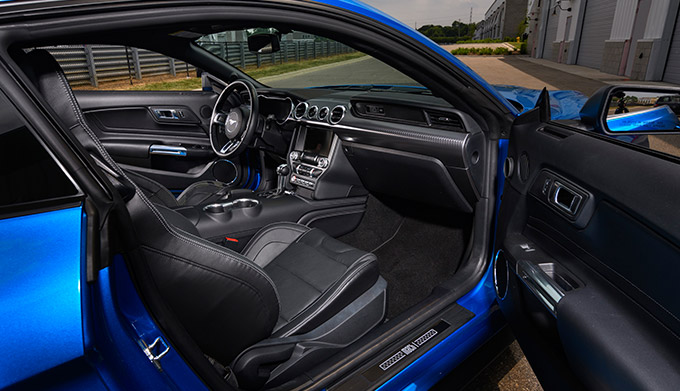 2021 Mustang Mach 1 interior shot passenger's side