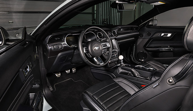 2021 Mustang Mach 1 interior shot driver's side