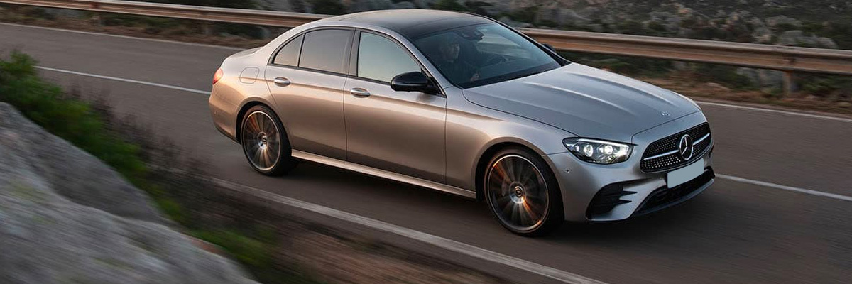 2021 Mercedes-Benz E-Class in motion