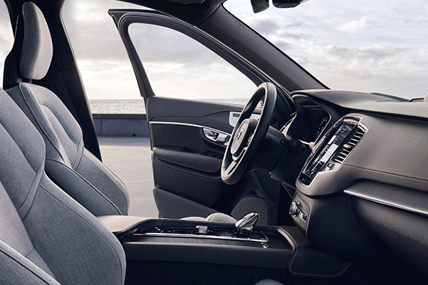 Interior shot of the front seat of the 2021 Volvo XC90