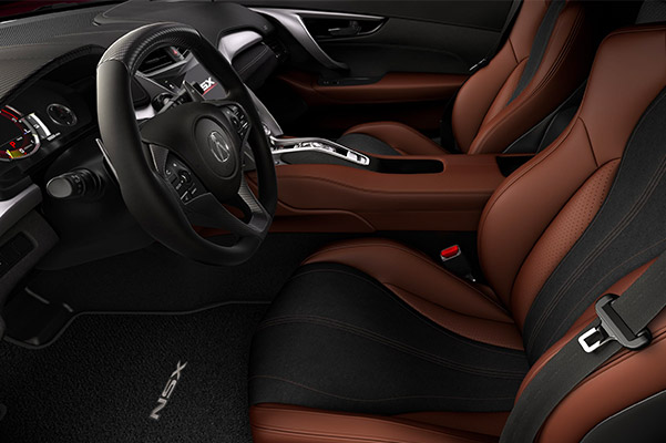 Interior shot of a 2021 Acura NSX