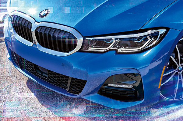 2021 BMW 3 SERIES SEDAN close up of front end