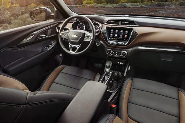 2021 Chevy Trailblazer Interior Front Seating Arrangement