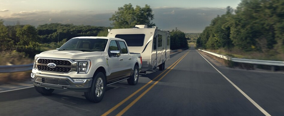 2021 Ford F-150 towing camper