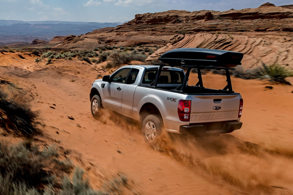 2021 Ford Ranger driving through desert