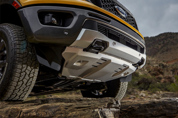 2021 Ford Ranger from below