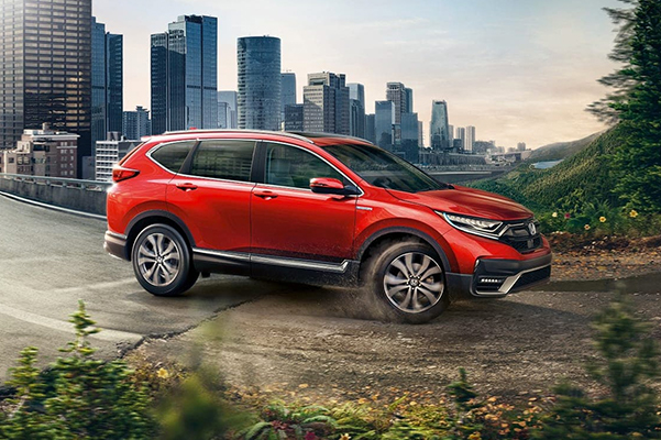 2021 Honda CR-V going from road to dirt