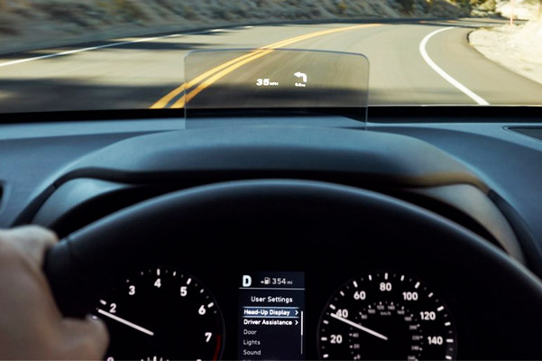 2021 Hyundai Kona Heads up Display