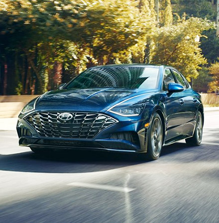 2021 Hyundai Sonata on road front view