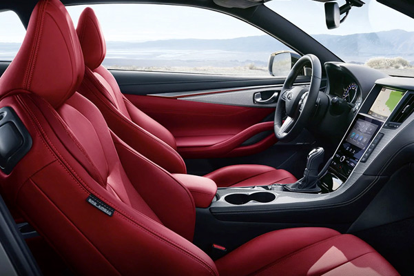 INFINITI Q60 Coupe Red Leather Interior