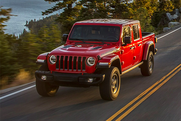2021 Jeep Gladiator driving on road