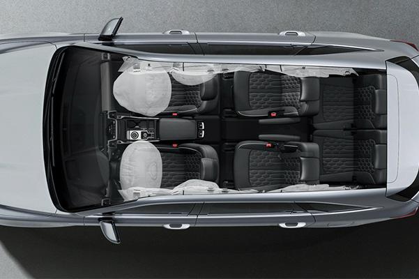 2021 Kia Sorento top down view of airbags