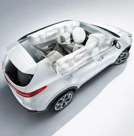2020 Kia Sportage Airbags Top View