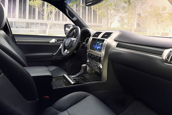 2021 Lexus GX interior vire from passenger side