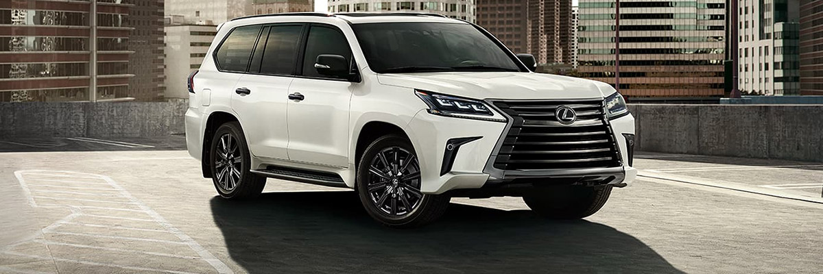 2021 Lexus LX parked in top level of parking garage
