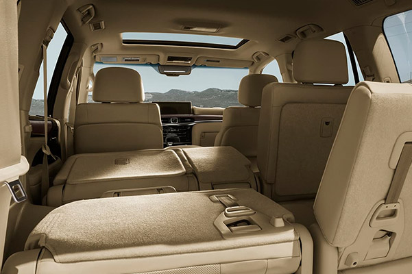 2021 Lexus LX interior cargo space