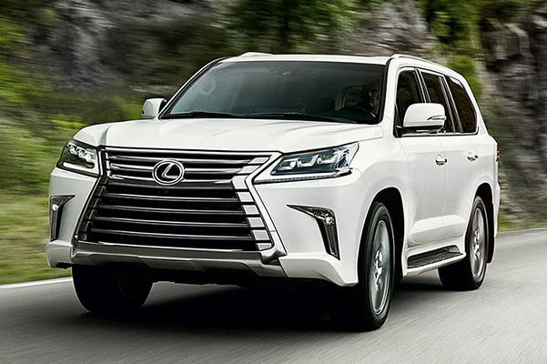 2021 Lexus LX on mountain road