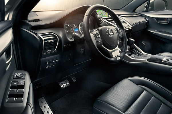 Interior shot of the dashboard in a 2021 Lexus NX