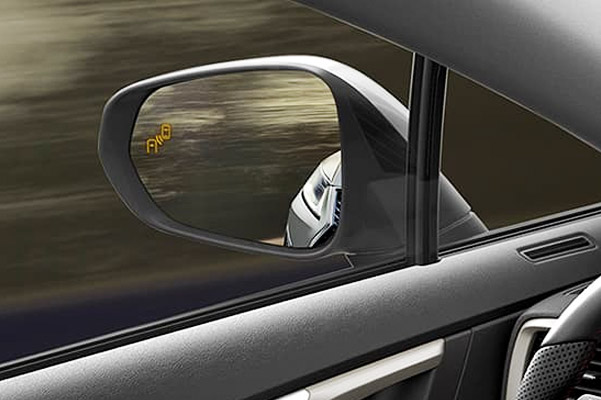 Lexus RX showing the Blind Spot Monitor with Rear Cross-Traffic Alert.