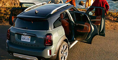 2021 MINI Countryman parked with all 4 doors open