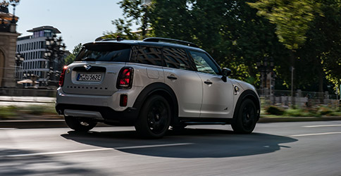 2021 MINI Countryman rear view on road