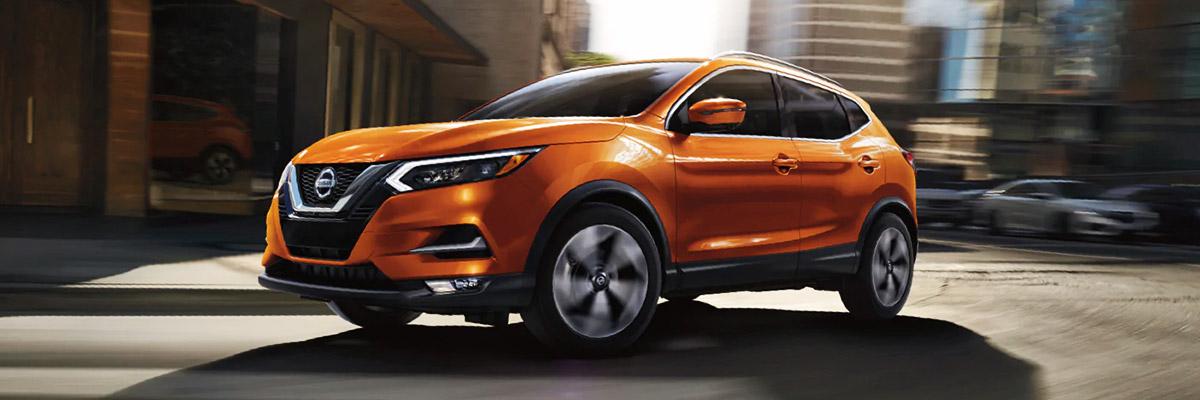 Orange Nissan Rogue Sport