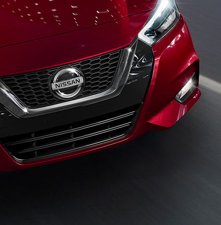 Close up of a 2021 Nissan Versa in action