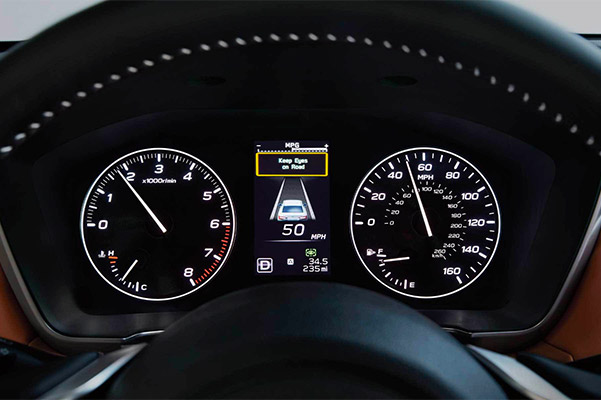 2021 Subaru Legacy dashboard showing cruise control