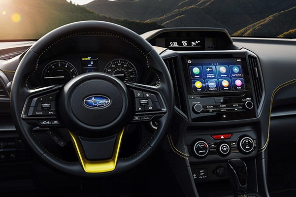 2021 Subaru Crosstrek Sport interior dashboard and entertainment center view