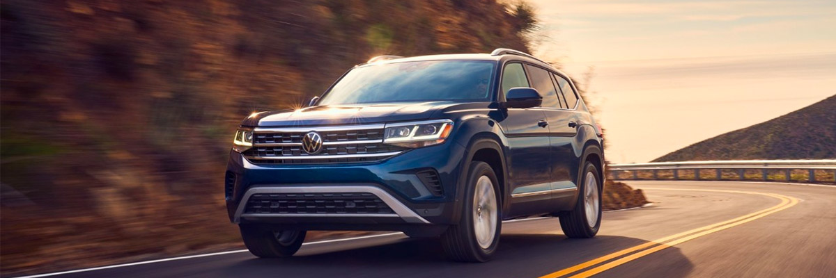 2021 Volkswagen Atlas driving on road